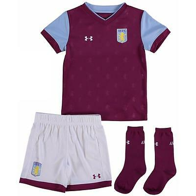Aston Villa Toddler Kit 2017-18 - UA NEW 2018 17/18 Kids Youth Junior
