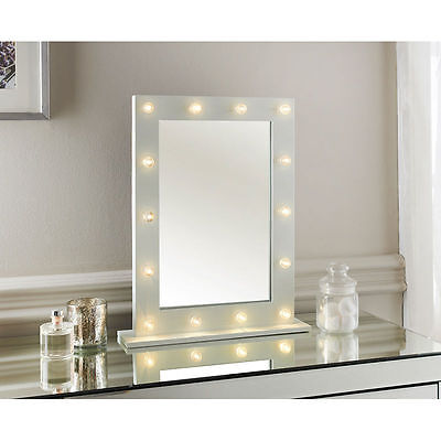 New Hollywood LED light detailed Dressing Table Mirror -40 X 50 x 10cm (Approx.)