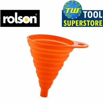 Rolson High Quality Silicone Collapsible Foldable Kitchen Funnel Car Oil Fuel Ha