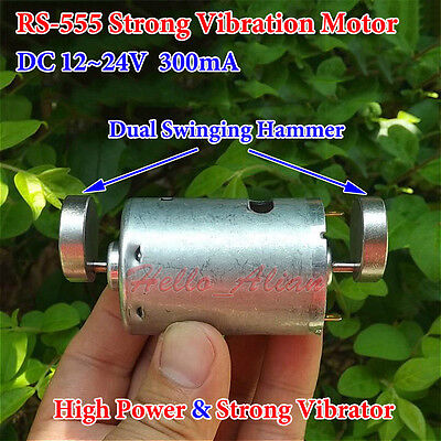 DC 12V 24V Dual Head Strong Vibration Vibrating Motor Vibrator DIY Toy Massager