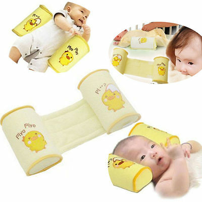 Baby Toddler Safe Cotton Anti Roll Pillow Sleep Head Positioner Anti-Rollover-UK