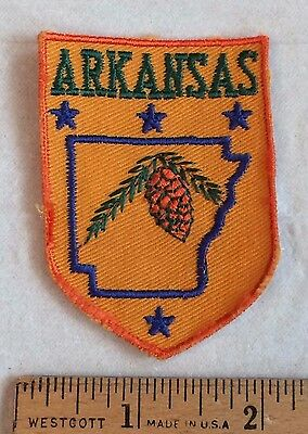 ARKANSAS State Pine Cone Souvenir Patch Badge
