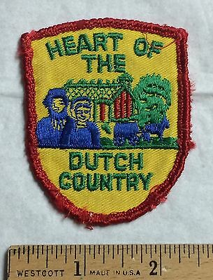 Heart of the Dutch Country Amish County Embroidered Patch Badge