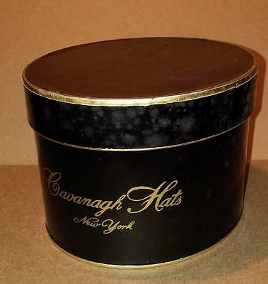 7028----vintage Cavanagh Hats gift box with ceramic mini hat