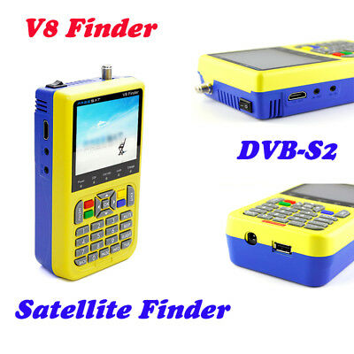 Digital V8 Finder Satellite Finder DVB-S2 FTA FULL HD MPEG-2 MPEG-4 3.5inch LCD