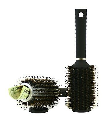 Hair Brush Diversion Secret Hidden Safe For Small Valuables As Cash On a Trip