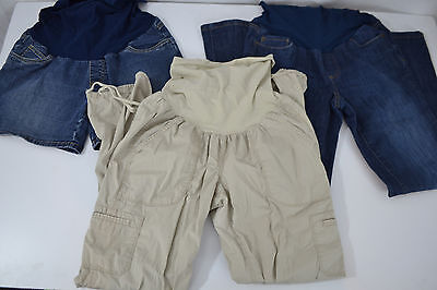 Maternity Lot Sz Med Pants Shorts Jeans Khakis Casual Over Belly Motherhood