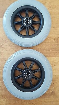 "TWO(2) 6"" Front Anti-Tip Wheels Assembly for Jazzy, Jet, Quantum WHLATIP1001"