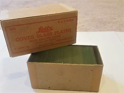 Leitz Cover Glass Plates with Ground Edges 2x2 in. Made in U.S.A.