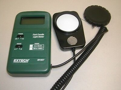 Extech 401027 Pocket Sized Candle Light Meter Used Excellent Free Shipping L4