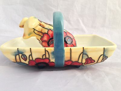 OLD TUPTON WARE CERAMIC PIG and BASKET ' YELLOW POPPY'