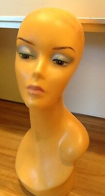 Women Female Mannequin Head Bust Vintage Wig Hat Jewelry Scarf Display Stand
