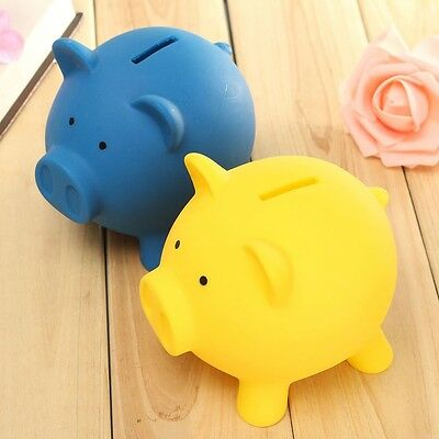 New Plastic Piggy Bank Coin Money Cash Collectible Saving Box Pig Kids Toy Gift