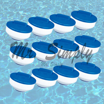 "[12pcs] 7"" Pool Spa Bromine Chlorine Floating Chemical Dispenser 3"", 1"" Tabs New"