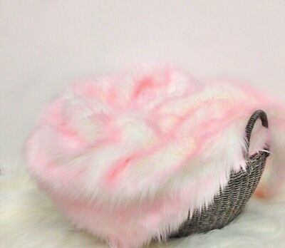 """Faux Fur Frosted Baby Pink photo props 18""""x20"""" Newborn photography's."""