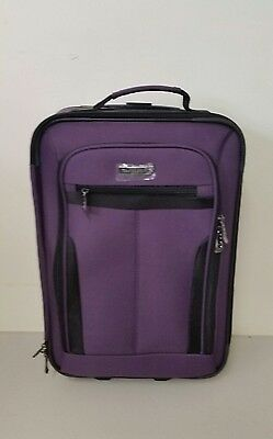 """Travel Select Segovia Luggage 2 Wheel 18"""" Rolling Carry On Suitcase Purple"""