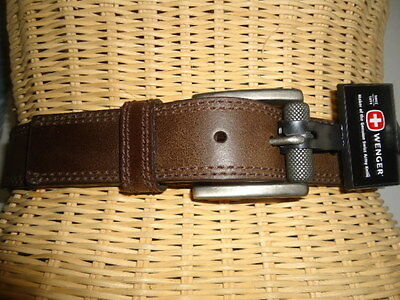 Swiss Army Logo Reverse Genuine Leather Belt Style SG7013