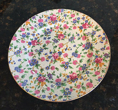 """Vintage Royal Winton Old Cottage CHINTZ 8"""" Plate"""