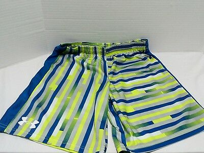 Under Armour Shorts - Blue, Neon Yellow, Silver, White - Loose - Youth Large