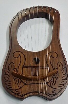 Lyre Harp Engraved Irish Harp Design/Lyra Harp Sheesham Wood/Harfe/Arpa/harpe