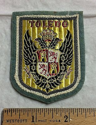 Vintage TOLEDO Spain Espana Coat of Arms Crest Felt Patch Badge