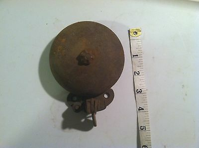 Antique Cast Iron Pull Chain Door Bell Old Vintage Hardware