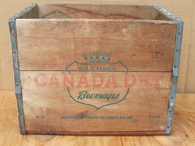 Vintage Antique Wooden Canada Dry Soda Crate Container Forest Box & Lumber Co.