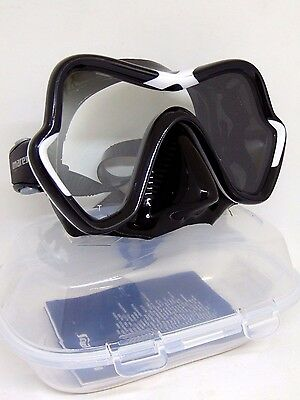 Mares One Vision Black/White Silicone Scuba Diving Snorkeling Mask NEW!
