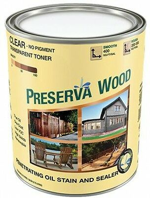 Preserva Wood 1 Qt Oil Based Clear Penetrating Stain And Sealer Tinted Exterior