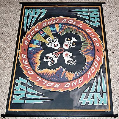 KISS Rock And Roll Over Wall Poster Scroll Tapestry Gene Simmons Ace Frehley