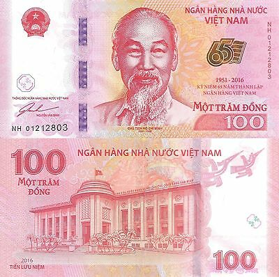 Viet Nam 100 Dong (2016) - Banking Commemorative Note/pNew UNC