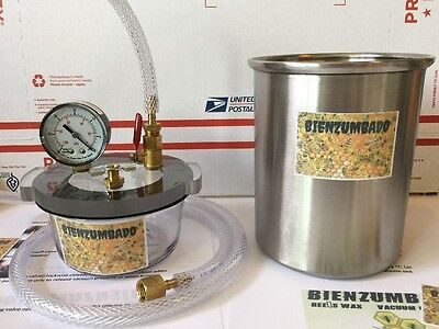 "Vacuum Chamber Kit 2 Qt Stainless & 1qt Pyrex  Chamber 6"" Best Deal"