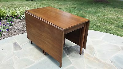 Henkel Harris Solid Mahogany Drop Leaf Dining Table