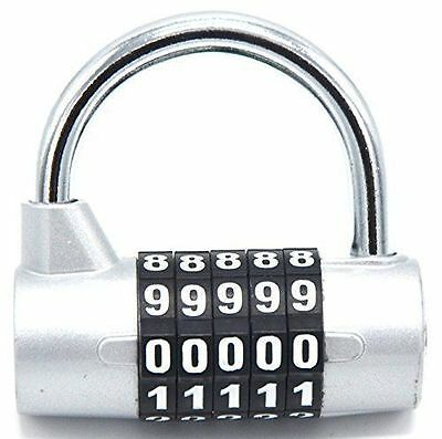 Lot of 5 - Fully Big Combination Padlock; 5 Passwords Sturdy Security Lock