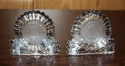 2 Partylite Glass Sunflower Tealight Candle Holders