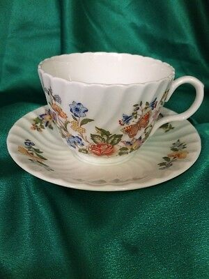 Aynsley Cottage Garden Cup And Saucer Made England