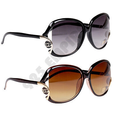 386 DG Women's Oversized Gradient Retro Designer Vintage Fashion Sunglasses