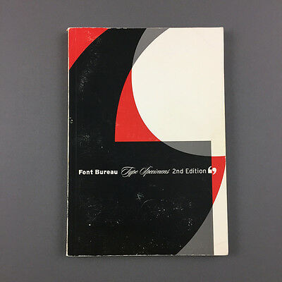 Font Bureau Type Specimen 2nd Edition Neville Brody Design Typography Design