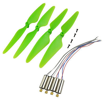 SHINA 4PCS propeller for Hubsan X4 H502S H502E RC Green Drone Replacement CCW CW