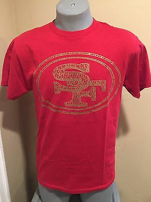 San Francisco 49ers NFL Majestic brand Mens Shirt  NWT Goldprint