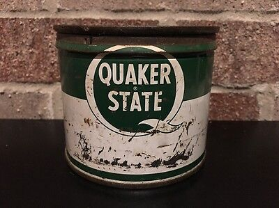 Vintage Quaker State Superfine Lubricant 1 Pound Oil Can