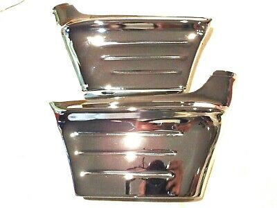 56 1956 Chevy, Chevrolet Chrome Front Fender & Grill Side Wrap Around Extensions