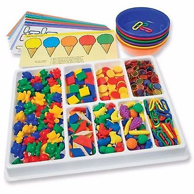 Counting and Sorting Kit 650 pcs Classroom Teacher Resource Maths Games Counters