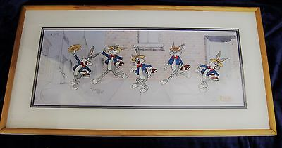 """Bugs Bunny """"look, I'm Dancin'"""" Animation Cel Signed By Virgil Ross"""