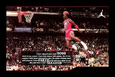 Michael Jordan Why I SUCCEED motivational quote silk Poster print 60x90 cm
