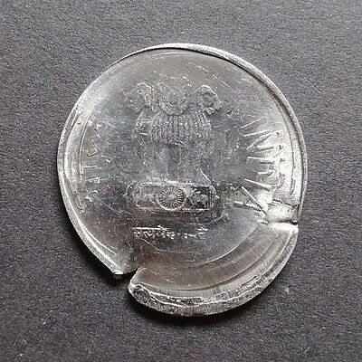 Multiple Errors - India 2 Rs Coin - Triple Strike With Brockage