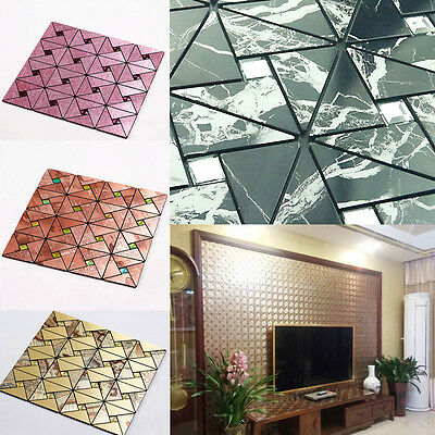 3D Panels Diamonds Wallpaper Sticker Tile Wall DIY Self-adhesive Decor Panelling