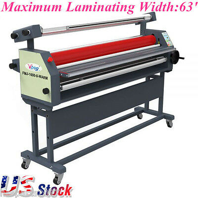 """US Ving 63"""" Full - auto Wide Format Roll Heat Assisted Cold Laminator with Stand"""
