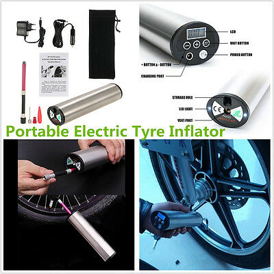 12V Portable Car Motorcycle LCD Display Electric Air Compressor Inflatable Pump