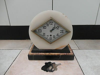 Antique/vintage French mantle marble working clock